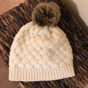 Jcrew faux fur Pom Pom hat